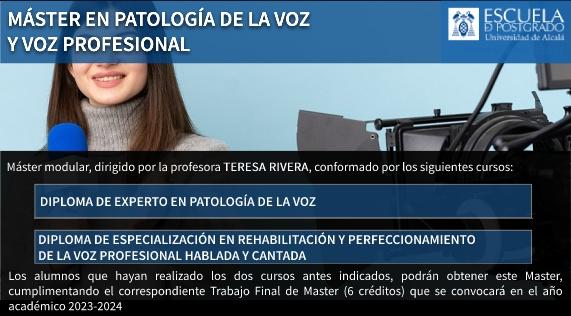 Máster en Patología de la Voz y Voz Profesional. Tecla de Acceso = 'l'
